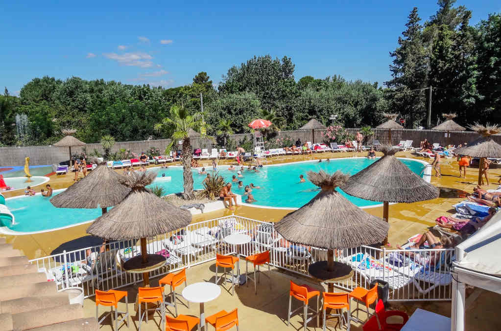 Camping beach Vias swimming pool